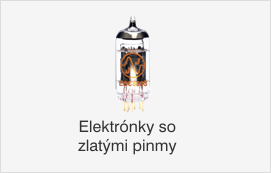 Elektrónky so zlatými pinmy